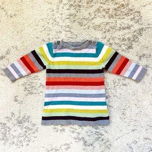 Preppy & colorful striped sweater dress